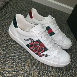 Authentic Gucci Men's Ace Embroidered Sneaker